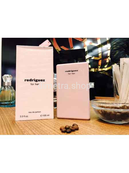 Fragrance World Redriguez For Her Pink 100ml. Аромат Narciso Rodriguez For Her Розовый флакон