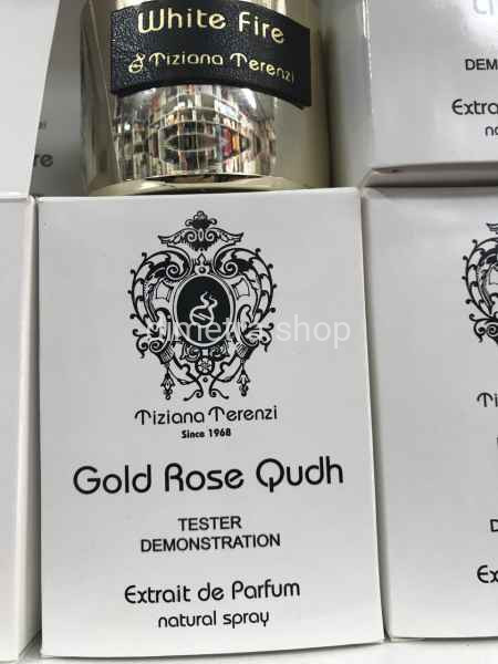 Парфюмерия в тестере Tiziana Terenzi Gold Rose Qudh 100 ml. Парфюмерия Тизиана Терензи